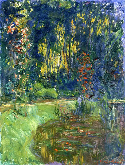 Water Lily Pond at Giverny. Claude Oscar Monet