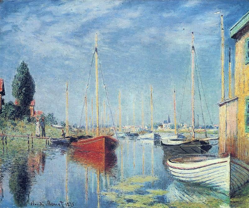 Argenteuil. Yachts 02. Claude Oscar Monet