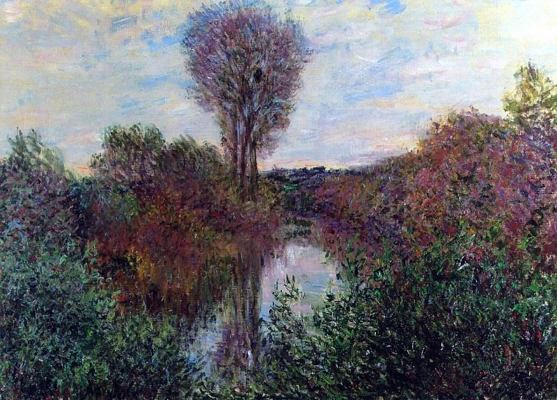 The Small Arm of the Seine at Mosseaux. Claude Oscar Monet