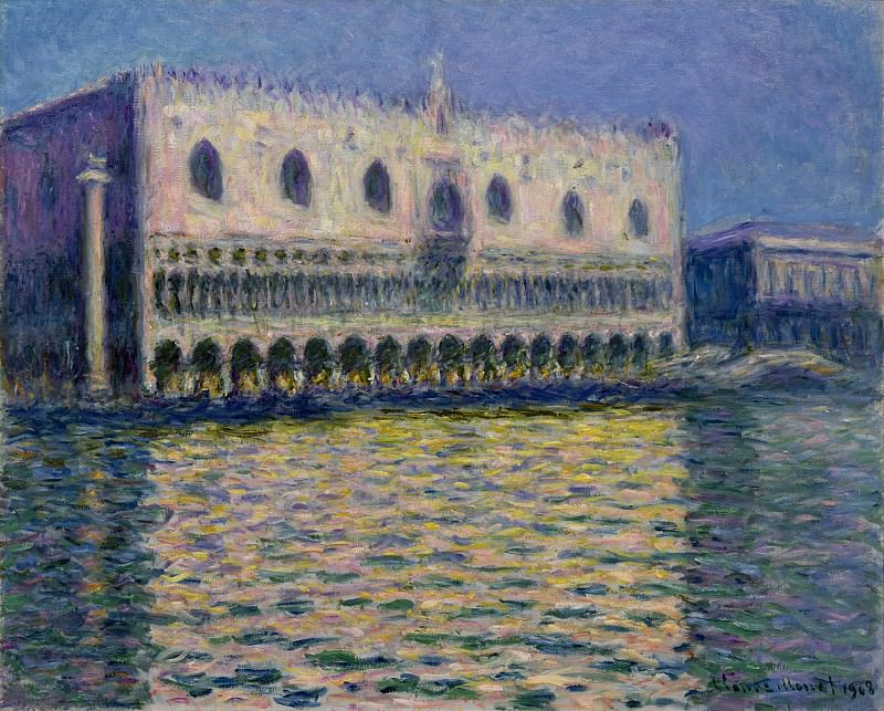 The Palazzo Ducale. Claude Oscar Monet