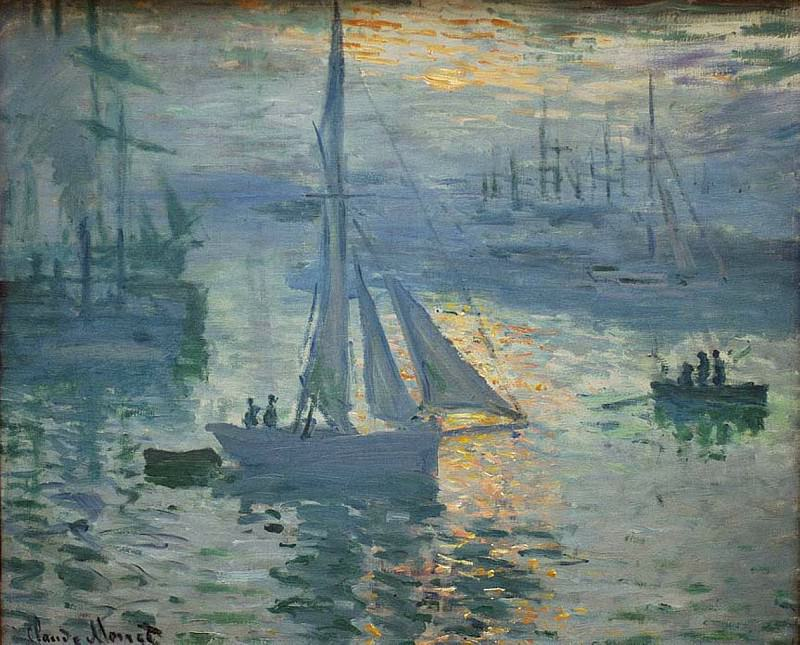 Sunrise, The Sea. Claude Oscar Monet