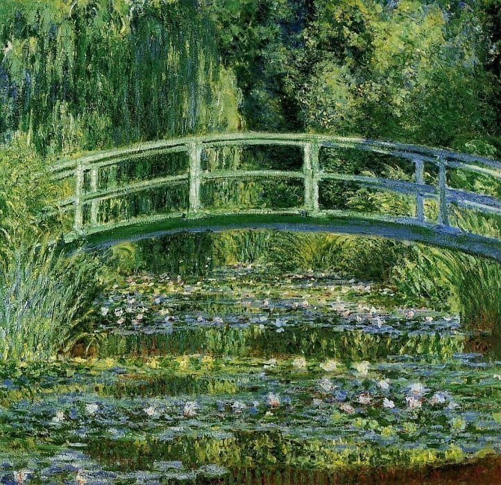 The Japanese Bridge (The Water-Lily Pond). Claude Oscar Monet