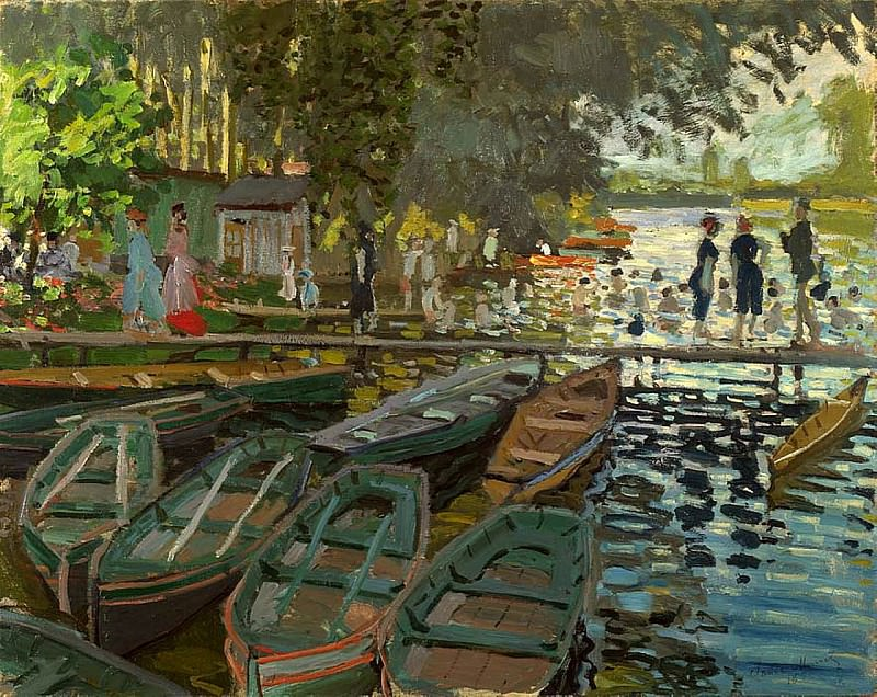 Bathers at La Grenouillere. Клод Оскар Моне