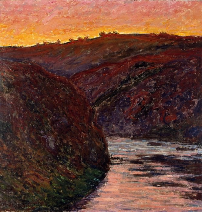 Valley of the Creuse, Sunset. Клод Оскар Моне