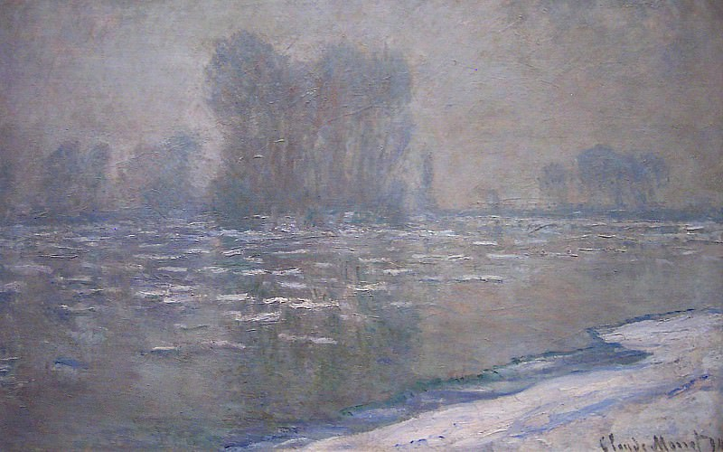 Ice Floes, Misty Morning. Клод Оскар Моне