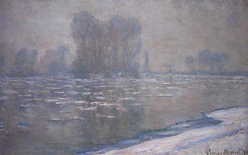 Ice Floes, Misty Morning. Claude Oscar Monet
