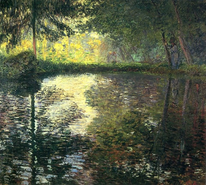 The Pond at Montgeron, 1876. jpeg. Claude Oscar Monet