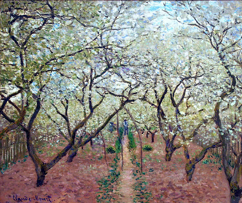 Orchard in Bloom. Клод Оскар Моне