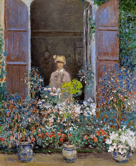 Camille Monet at the Window, Argentuile, 1873 1. Claude Oscar Monet