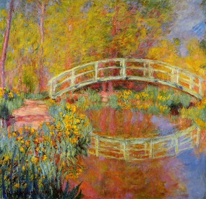 The Japanese Bridge (The Bridge in Monet's Garden). Claude Oscar Monet