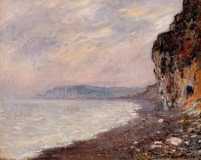 Cliffs at Pourville in the Fog. Claude Oscar Monet