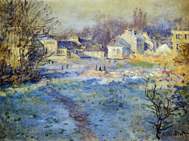 White Frost. Claude Oscar Monet