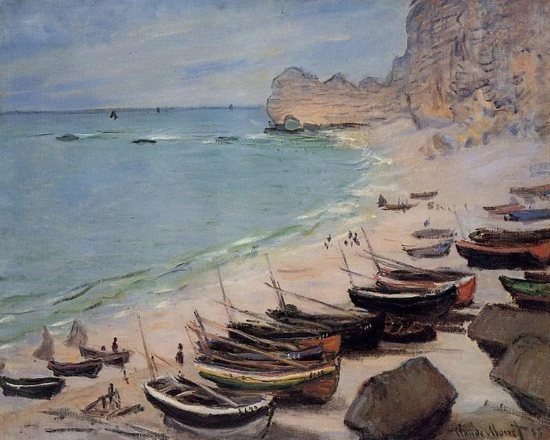 Boats on the Beach at Etretat. Claude Oscar Monet