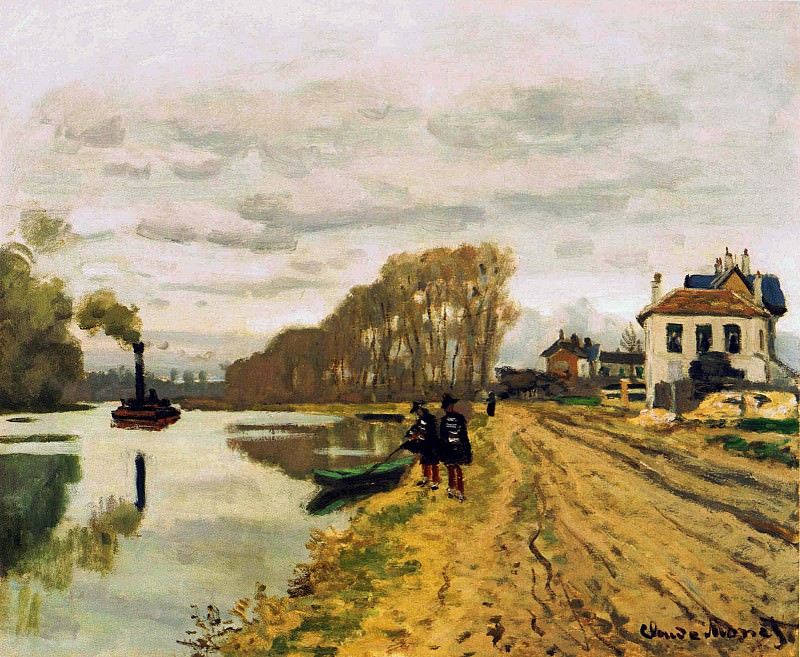 Infantry Guards Wandering along the River. Claude Oscar Monet