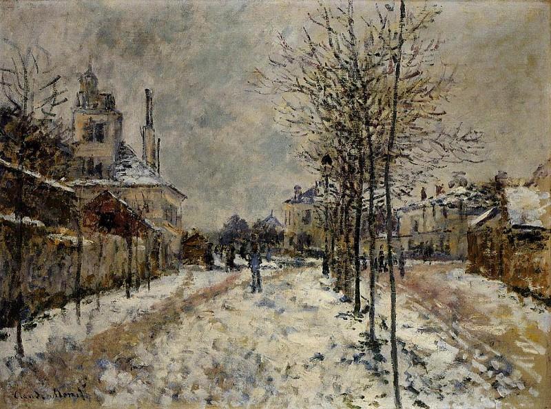 Snow Effect, The Boulevard de Pontoise at Argenteuil. Claude Oscar Monet