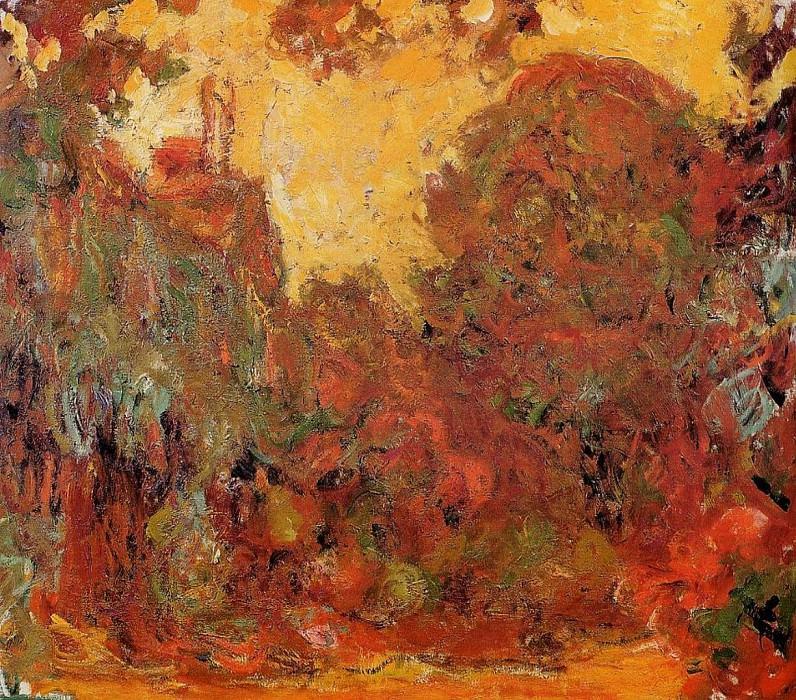 The House Seen from the Rose Garden 2. Claude Oscar Monet