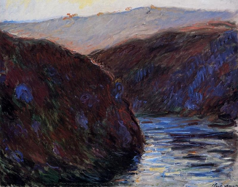 Valley of the Creuse, Evening Effect. Claude Oscar Monet