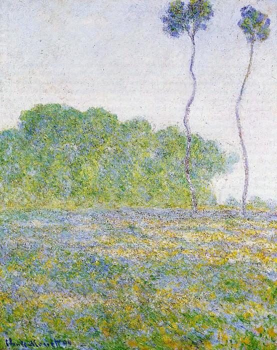 Springtime. Meadow at Giverny. Claude Oscar Monet