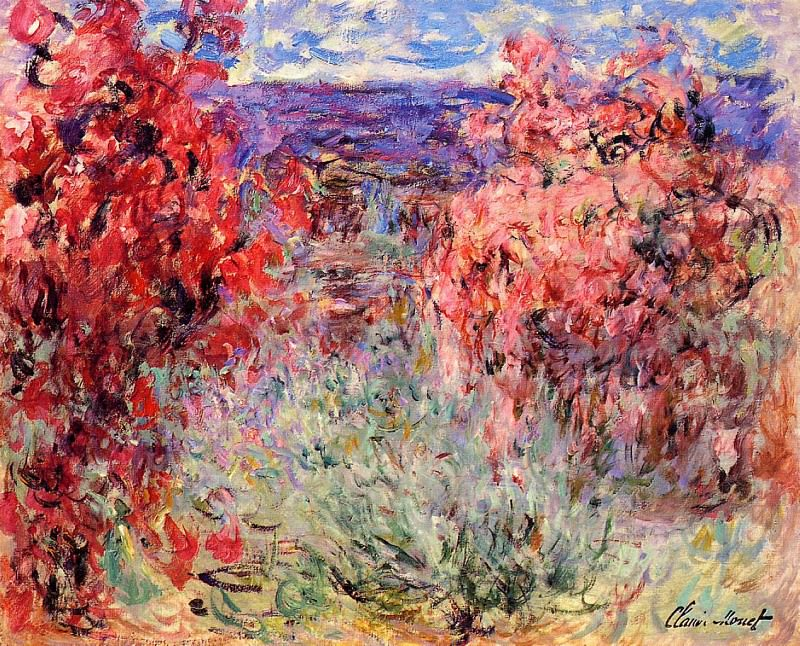 Flowering Trees near the Coast. Claude Oscar Monet