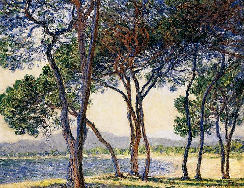 Trees by the Seashore at Antibes. Claude Oscar Monet
