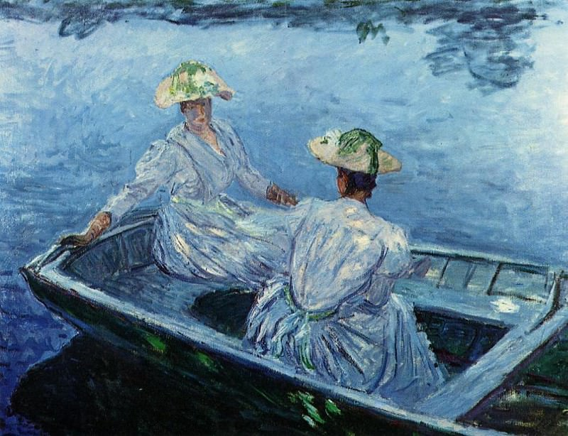 The Blue Row Boat. Claude Oscar Monet