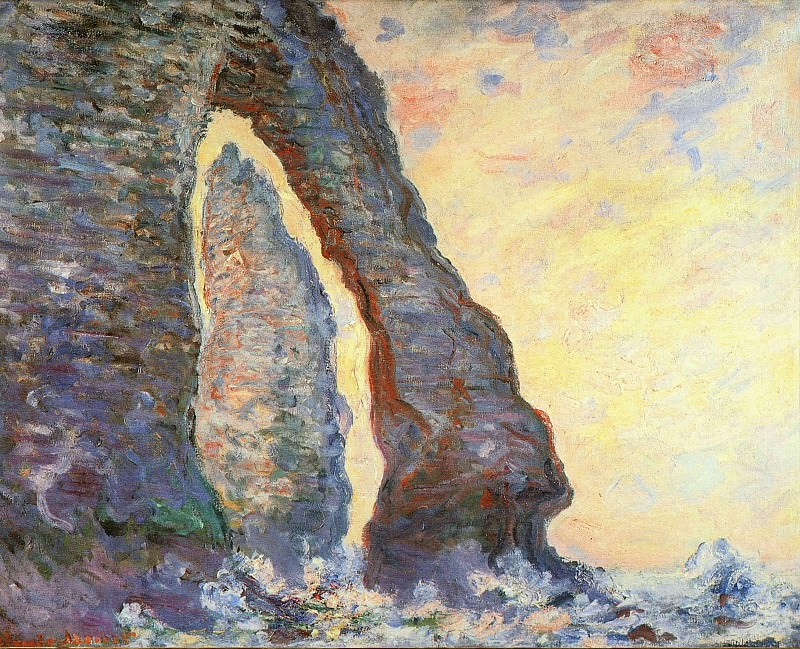 The Rock Needle Seen through the Porte d'Aval. Claude Oscar Monet