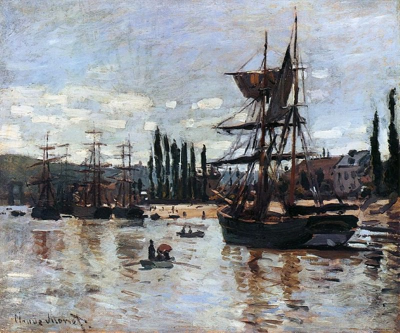 Boats at Rouen. Claude Oscar Monet