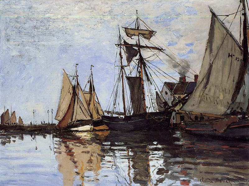Boats in the Port of Honfleur. Клод Оскар Моне