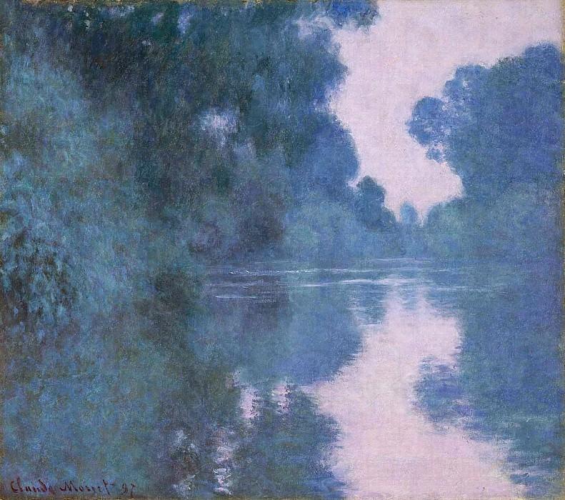 Morning on the Seine near Giverny 02. Claude Oscar Monet