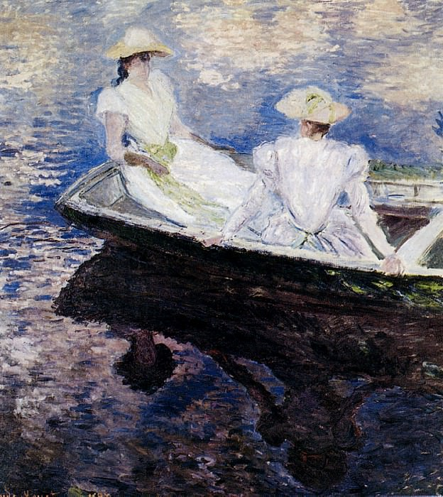 Girls in a Boat. Клод Оскар Моне