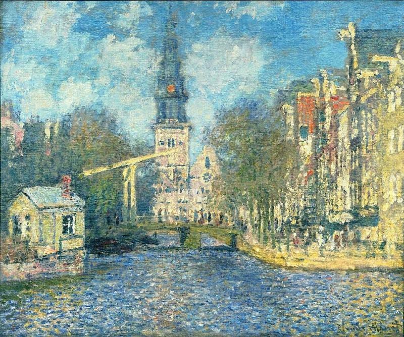 Zuiderkerk in Amsterdam. Claude Oscar Monet