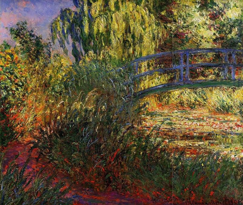 The Japanese Bridge (The Water-Lily Pond and Path by the Water), 1900 2. Claude Oscar Monet