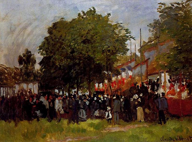 Festival at Argenteuil. Claude Oscar Monet