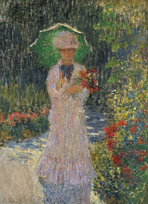 Camille with Green Parasol. Claude Oscar Monet