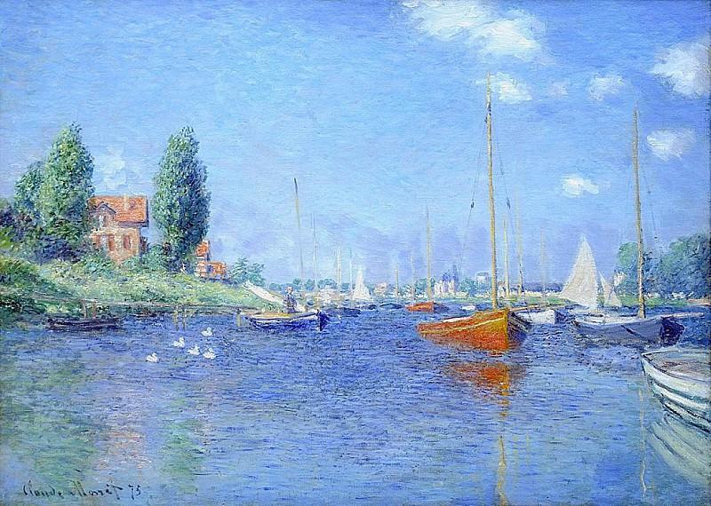 Argenteuil. Yachts. Claude Oscar Monet