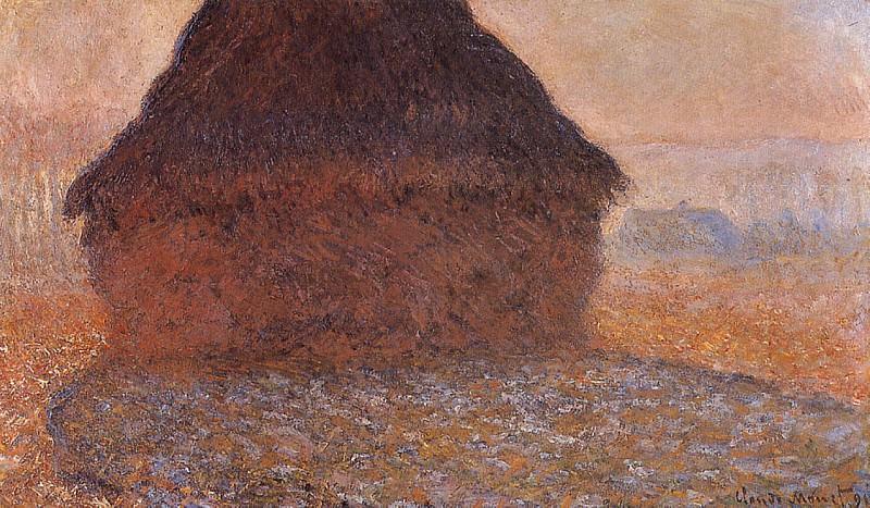 Grainstack under the Sun. Claude Oscar Monet