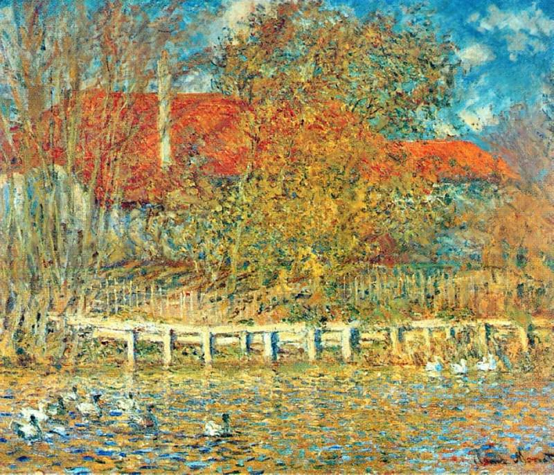 The Pond with Ducks in Autumn. Клод Оскар Моне