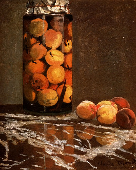 Jar Of Peaches. Claude Oscar Monet
