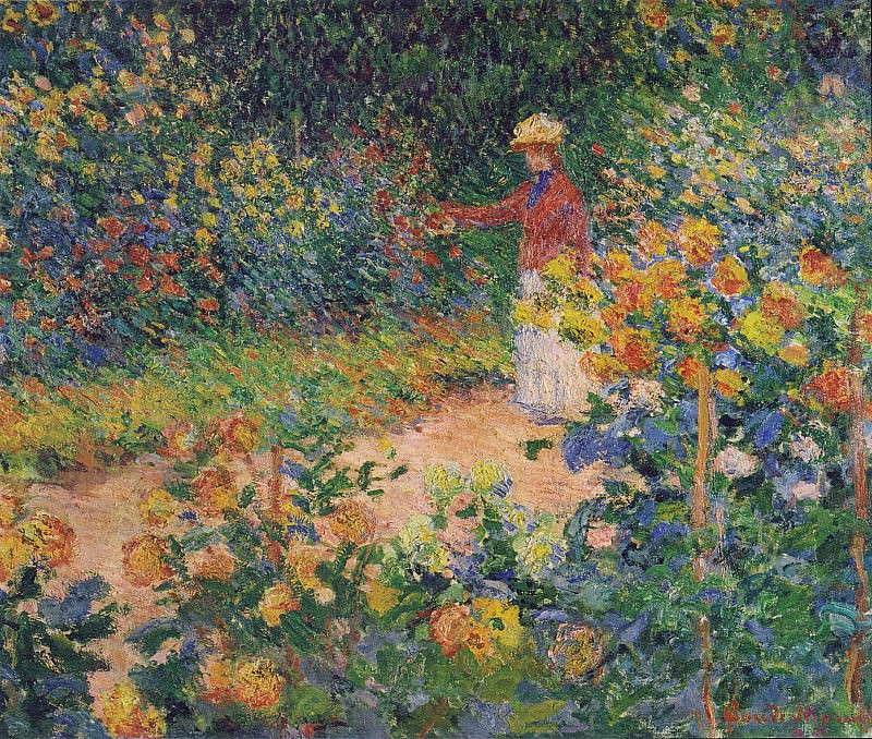 In the Garden. Claude Oscar Monet