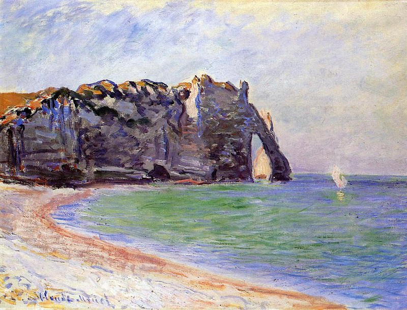 The Manneport, Etretat, the Porte d'Aval. Клод Оскар Моне