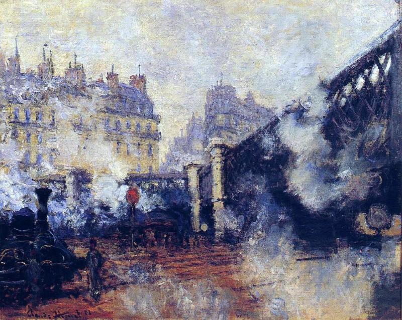 Saint-Lazare Station, The Pont de l'Europe. Claude Oscar Monet