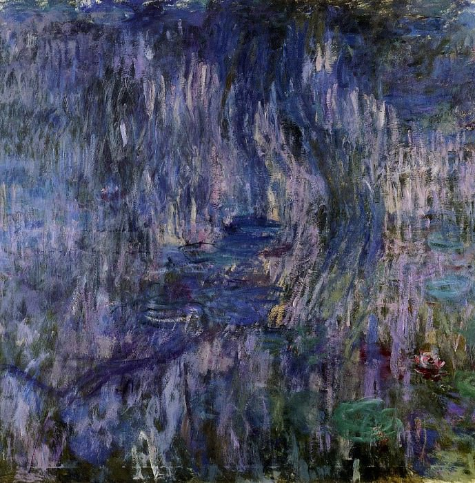 Water Lilies, Reflection of a Weeping Willow. Claude Oscar Monet