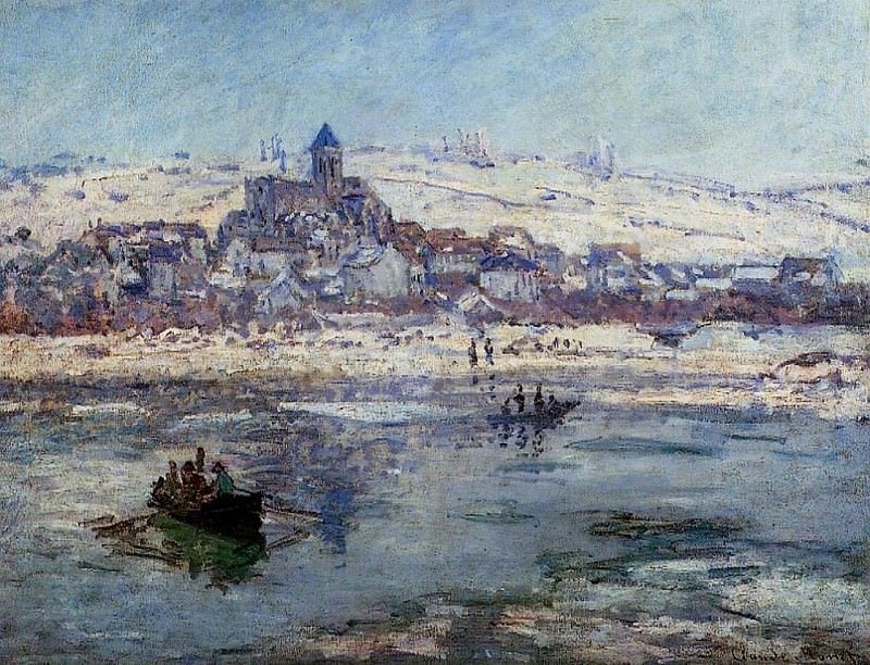 Vetheuil in Winter. Claude Oscar Monet
