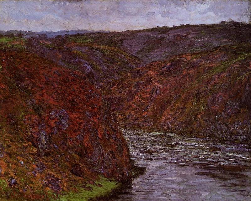 Valley of the Creuse, Grey Sky. Claude Oscar Monet