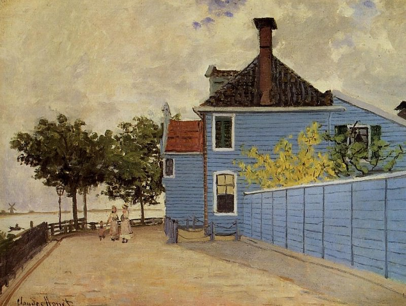 The Blue House at Zaandam. Claude Oscar Monet