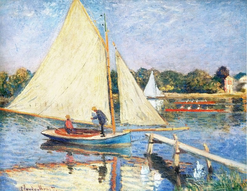 Boaters at Argenteuil. Claude Oscar Monet