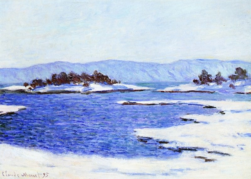 The Banks of the Fjord at Christiania. Claude Oscar Monet
