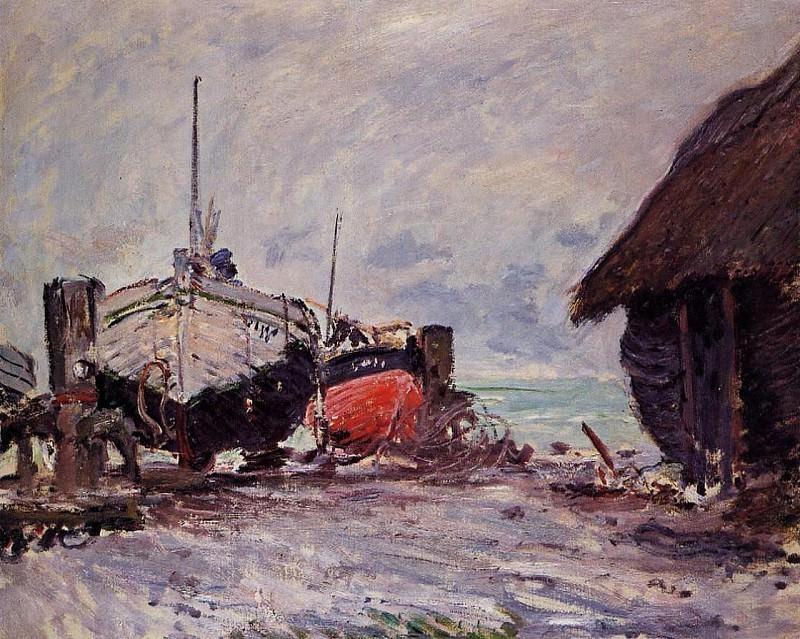 Fishing Boats at Etretat. Клод Оскар Моне