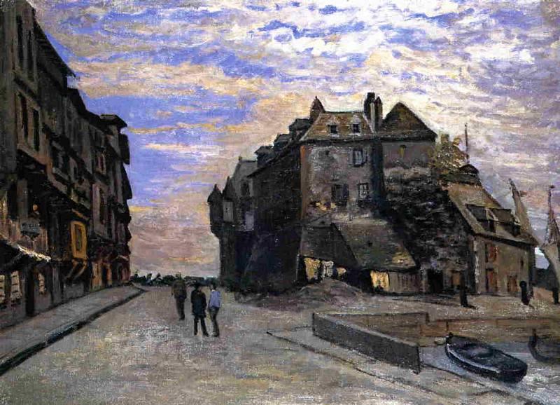 Le Lieutenance at Honfleur. Claude Oscar Monet