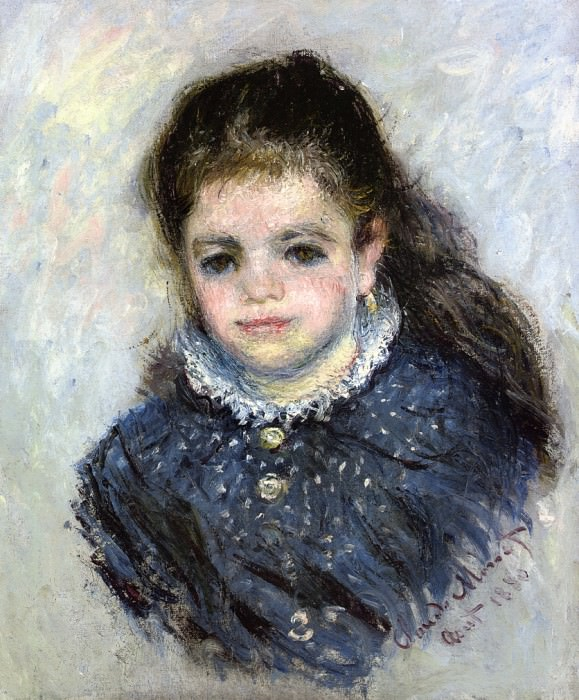 Portrait of Jeanne Serveau. Claude Oscar Monet